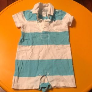 Ralph Lauren blue and white boys romper